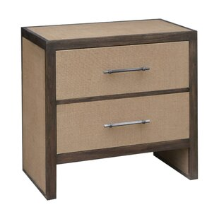 Schlater 2 Drawer Nightstand