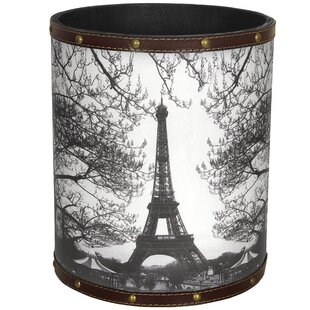 Oriental Furniture Eiffel Tower 2.9 Gallon Waste Basket