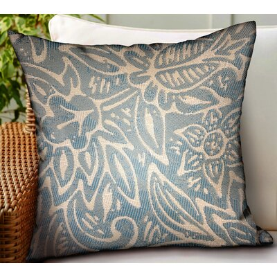 Carolyn Floral Luxury Indoor/Outdoor Throw Pillow by Highland Dunes Fresh