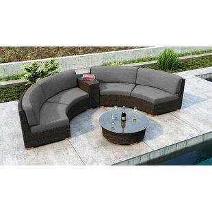 Everly Quinn Glen Ellyn 4 Piece Sectional Set with Sunbrella Cushion