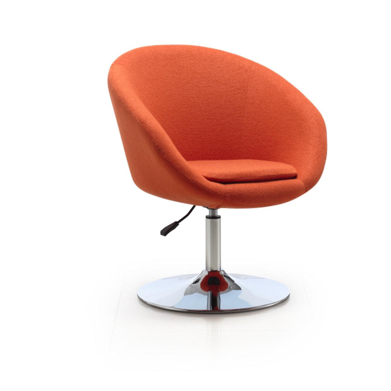 Orren Ellis Helmuth Swivel Barrel Chair & Reviews | Wayfair