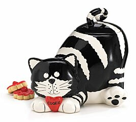 Chester Cat Lying 68 Ounce Cookie Jar by burton + BURTON No Copoun