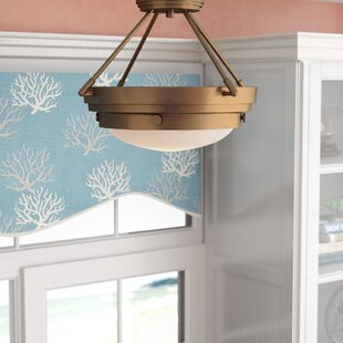 Aralene 3-Light Semi-Flush Mount by Beachcrest Home