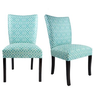 Knowlson Upholstered Dining Chair (Set of 2) Rosecliff Heights