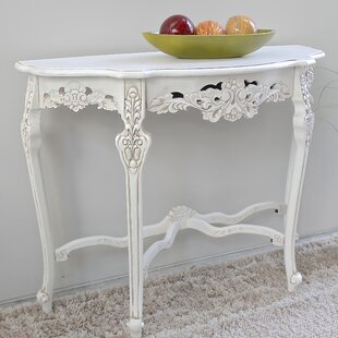 Astoria Grand Betty Wood Console Table