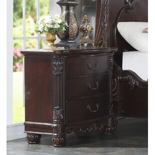 Treyton Solid Wood 3 Drawer Nightstand by Astoria Grand
