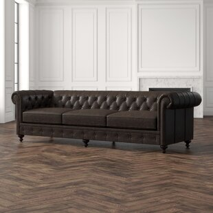 London Leather Chesterfield Sofa