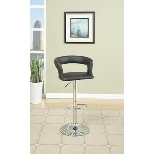 Orren Ellis Dougan Adjustable Height Swivel Bar Stool (Set of 2)