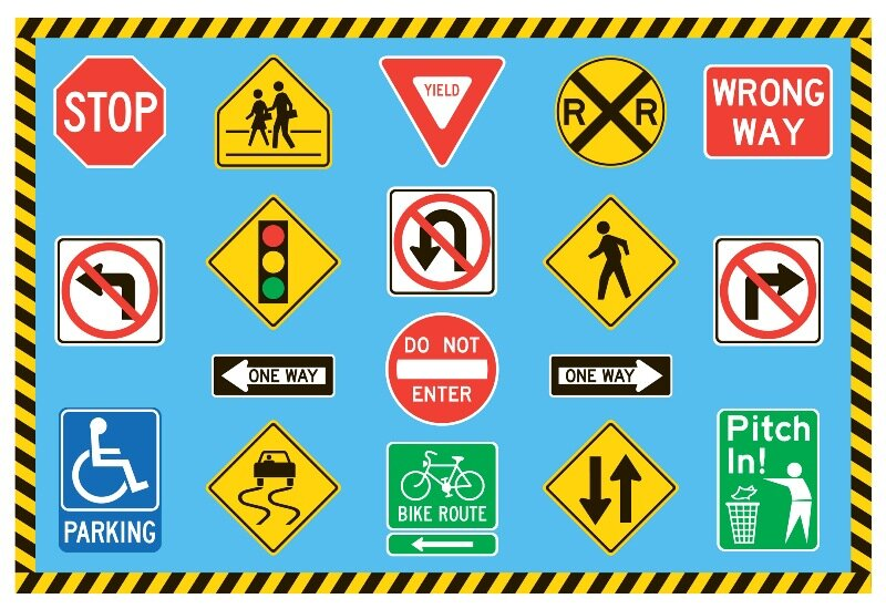 Fun Rugs Fun Time Traffic Signs Kids Rug Amp Reviews Wayfair