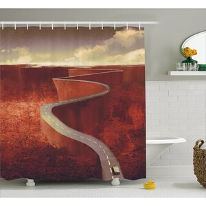 Scenic Road Decor Shower Curtain East Urban Home