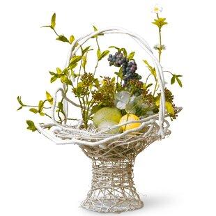 Floral Easter Basket With Egg