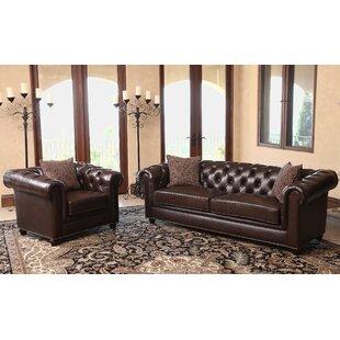 Darby Home Co Mitchem 2 Piece Leather Liv..