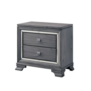 Everly Quinn Orrwell 2 Drawer Nightstand