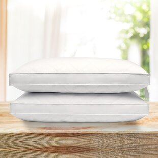 Posey Quilted Gusseted Medium Feather and Down Bed Pillow (Set of 2)