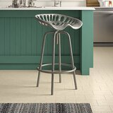 Edith Adjustable Height Swivel Bar Stool by Williston Forge