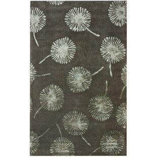 Big Save Hudson Dandelion Mushroom Hand-Tufted Black/Gray Area Rug By nuLOOM
