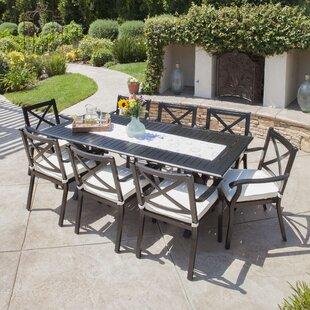 Gracie Oaks Maissane Outdoor 9 Piece Dining Set