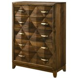 Agastya Transitional 5 Drawer Wooden Chest by Foundry Select