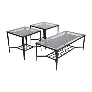 Winston Porter Rivage 3 Piece Coffee Table Set (Set of 3)