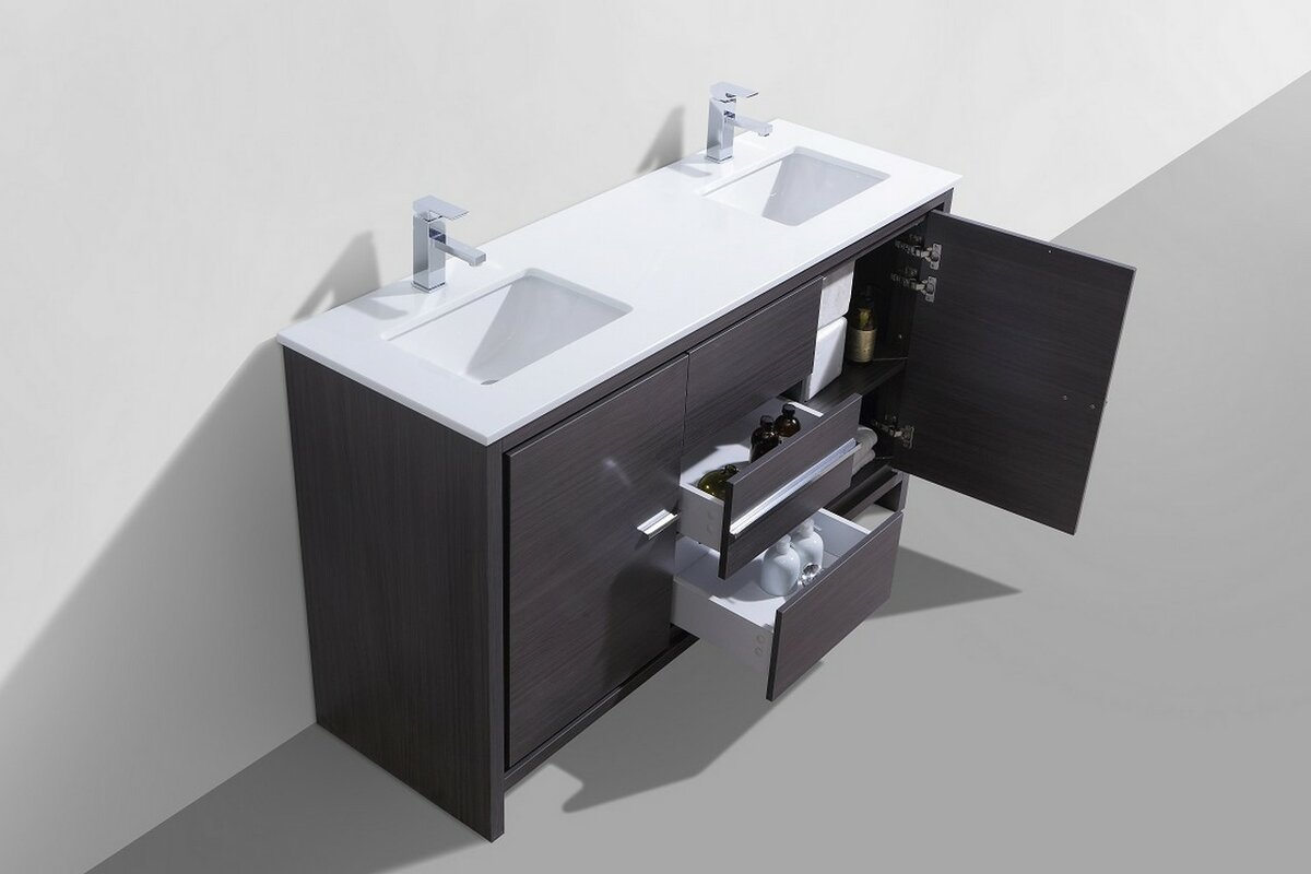 Bosley 60 Double Sink Modern Bathroom Vanity Reviews AllModern