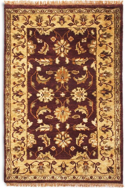 Taj Dark Red Beige Area Rug Wayfair Co Uk