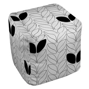 Divisible 2  Pouf Ottoman by Manual Woodworkers & Weavers