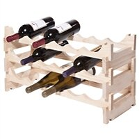 18 Bottle Floor Wine Bottle Rack by Sympl..