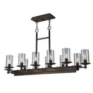 Artcraft Lighting Legno Rustico 12-Light Kitchen Island Pendant