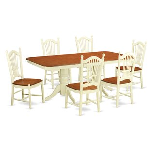 Pillsbury 7 Piece Dining Set with Double Pedestal Table Legs