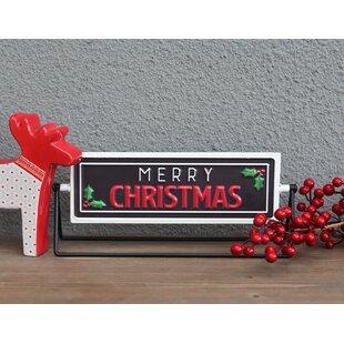 Christmas Tabletop Signs Wayfair