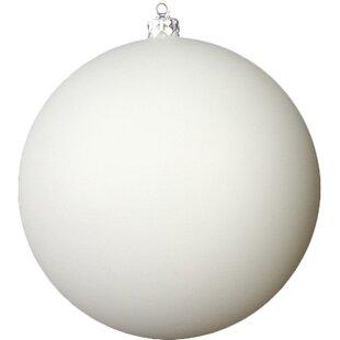 shatterproof matte winter white christmas ball ornament - White Christmas Balls