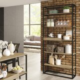 Garica 70'' H x 31'' W Metal Etagere Bookcase by 17 Stories