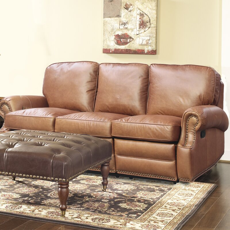Longhorn Leather Reclining Sofa Part 84