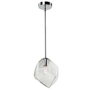 Burgoyne Abstract Shade 1-Light Novelty Pendant by Brayden Studio