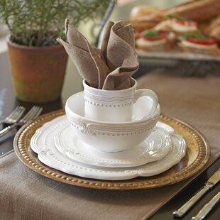 Prescott 16-Piece Dinnerware Set Service for 4 & Tuscan Style Dinnerware Sets | Wayfair