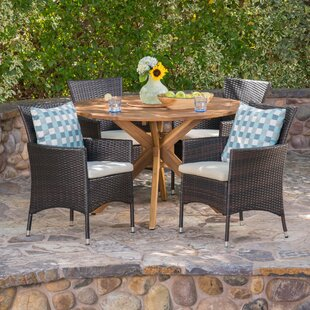 Stennis 5 Piece Dining Set with Cushions