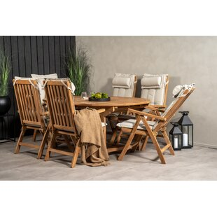 Baek 6 Seater Dining Set With Cushions By Sol 72 Outdoor