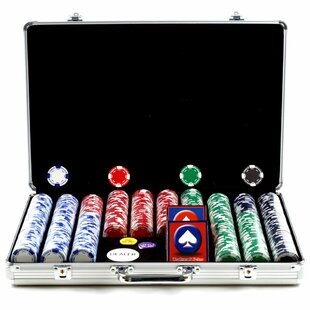 Holdem Case with Poker Chip (Set of 650) by Trademark Global