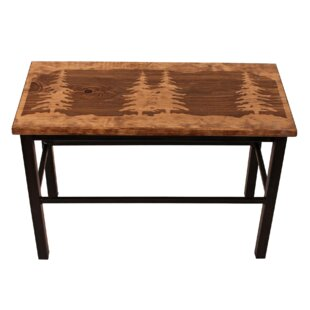 Valerie Feather Tree Wood/Metal Bench by Millwood Pines