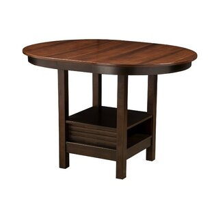 Wilmore Oval Shaped Rubberwood Solid Wood Pub Table