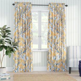 Leaf Print Curtains Wayfair