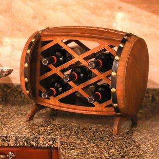 Gullo Rustic Wooden 5 Bottle Floor Wine Bottle Rack