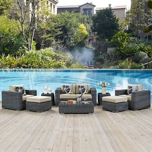 Keiran 8 Piece Sunbrella Sofa Set with Cushions