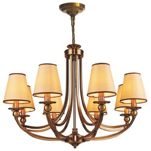 Nyman 8-Light Shaded Chandelier by Charlton Home