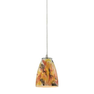 Latitude Run Ramapo Glass 1-Light Cone Pendant