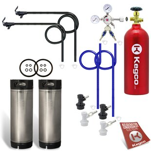Two Keg Homebrew Party Kegerator Kit with 5 lb. CO2 Tank - Ball Lock