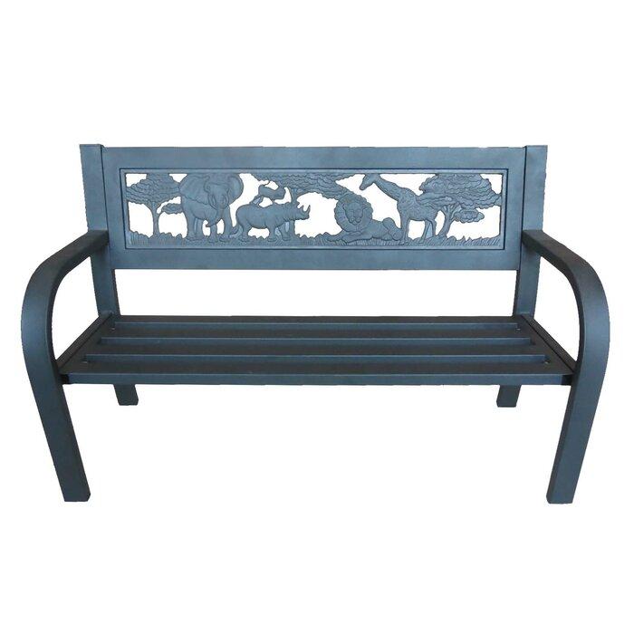Phenomenal Pulver Safari Outdoor Metal Garden Bench Evergreenethics Interior Chair Design Evergreenethicsorg