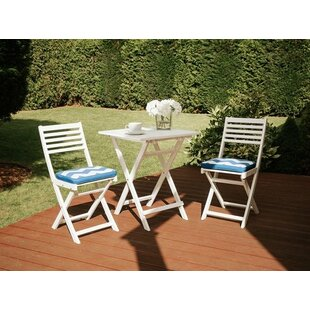 Rosecliff Heights Vanguard 3 Piece Bistro Set with Cushions