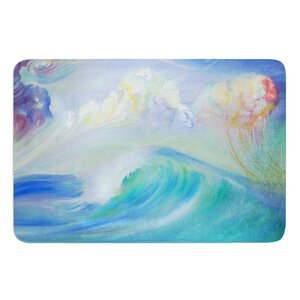 Jelly Fish by Theresa Giolzetti Bath Mat