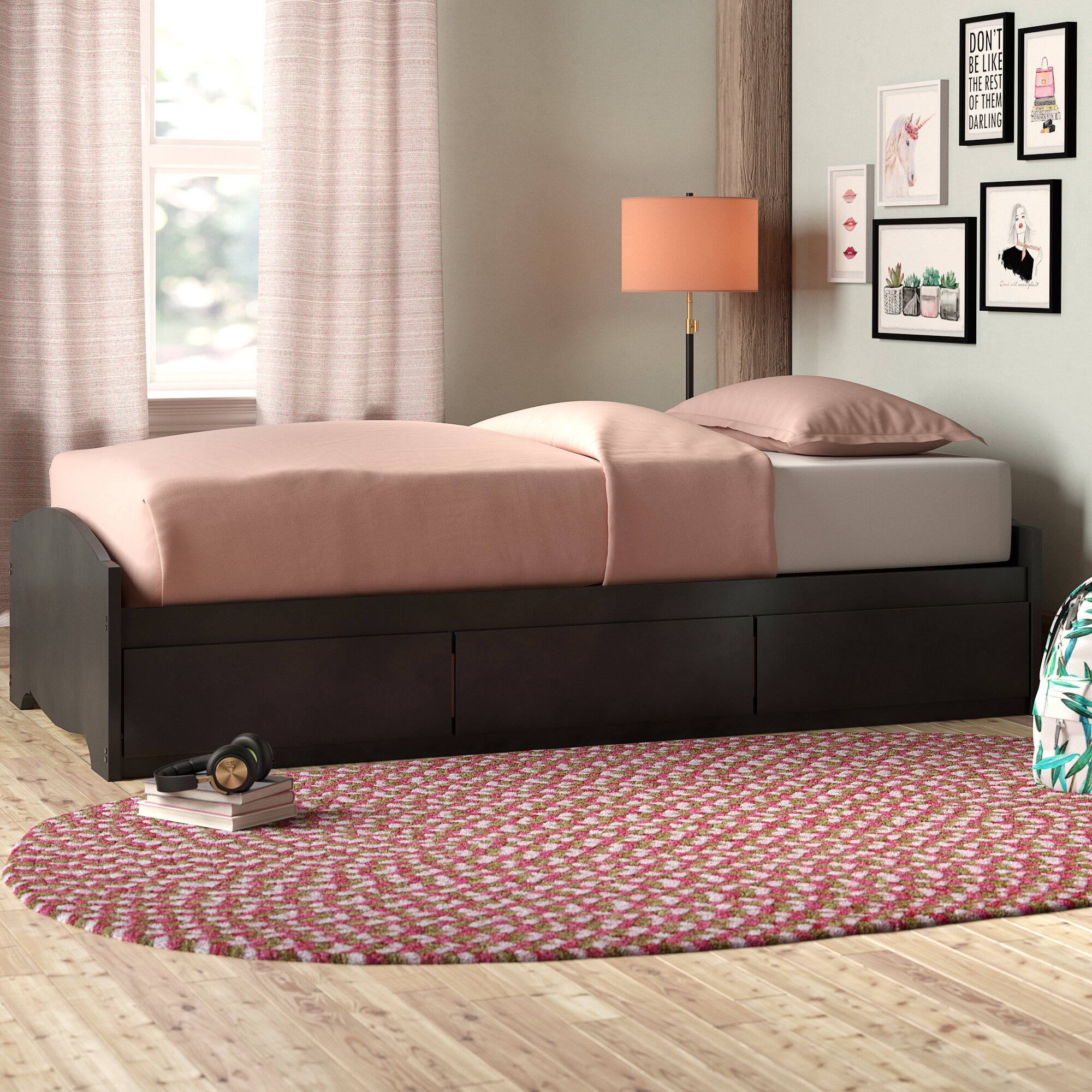 Picture of: Harriet Bee Nolanville Extra Long Twin Mate S Captain S Bed With Storage Reviews Wayfair